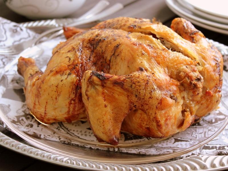 запеченная курица в духовке с ананасами